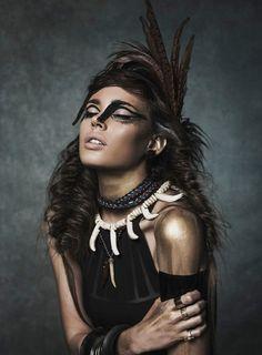 Nuria Nieva by Jesus Alonso for Elle Romania August 2014  [Editorial]
