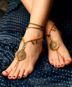 Barefoot sandal Crochet hippie shoes yoga by VascoDesign on Etsy