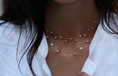14kt gold and diamond twilight choker necklace – Luna Skye