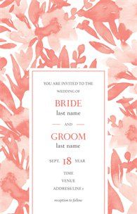 Design wedding invitations with Vistaprint! With hundreds of wedding invitation templates to choose from, there's something to suit all wedding themes and styles. Design your wedding invites now! Wedding Invitation Templates, Wedding Invitations, Tv On The Radio, Wedding Themes, Service Design, Stationery, Place Card Holders, Romantic, Bride