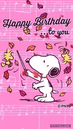 Happy Birthday Snoopy Images, Birthday Greetings For Facebook, Happy Birthday For Him, Happy Birthday Video, Happy Birthday Wishes Cards, Happy Birthday Quotes, Birthday Greeting Cards, Card Birthday, Birthday Ideas