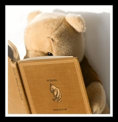 "Pooh reading ""Winnie the Pooh""! 