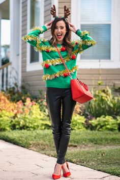 Ugly Sweater Outfit Ideas stylish christmas sweater outfit ideas that prove they are Ugly Sweater Outfit Ideas. Here is Ugly Sweater Outfit Ideas for you. Ugly Sweater Outfit Ideas pin on christmas Ugly Sweater Outfit Ideas pin o. Funny Christmas Costumes, Tacky Christmas Party, Christmas Party Outfits, Christmas Fashion, Xmas Party, Tacky Christmas Outfit, Christmas Dresses, Christmas Tree Costume Diy, Christmas Vacation Costumes