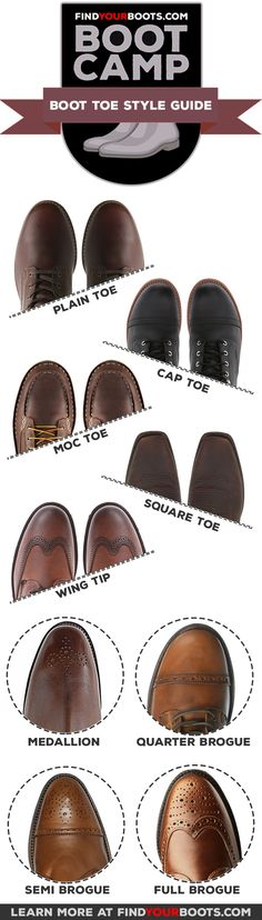 f4cc11e6c601 Boot Camp  7 Styles of Boot Toes Explained. Fashion InfographicMens Style  GuideFashion TodayDress ...