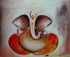 Buy online Paintings - Abstract ganesha - handpainted art painting - x from Fizdi Ganesha Painting, Ganesha Art, Lord Ganesha, Shree Ganesh, Simple Rangoli, Yoga Art, Hindu Art, Indian Paintings, Online Painting