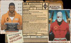 Arkham Files - Deadshot by Roysovitch on DeviantArt - Visit to grab an amazing super hero shirt now on sale! Batman Comic Art, Batman Comics, Batman Robin, Gotham Batman, Arkham City, Arkham Asylum, Jason Todd Batman, Comic Villains, Batman Arkham Origins