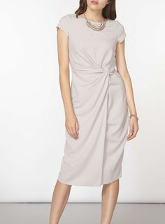 **Luxe Grey Ruched Crepe Dress - Bodycon Dresses - Dresses - Dorothy Perkins
