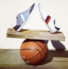 defying gravity - concept of balance works perfectly for an athletic store