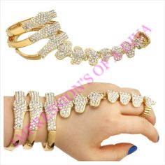 SUPER AMAZING STRETCH TO FIT CHAIN HEART HAND CHAIN RING