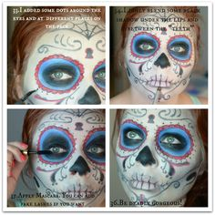 """The Color """"Red Hot"""": Day of the Dead Makeup"""