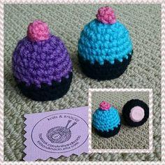 knits & knacks eos crochet cupcake holder. www.facebook.com/knitsandknacks www.etsy.com/shop/knitsandknacks