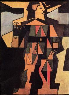 GRIS Juan (José Victoriano González-Pérez) - Spanish (Madrid 1887-1927 Boulogne-Billancourt in France) - Arlequín