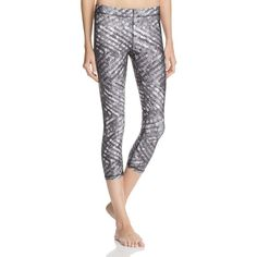 Terez Silver Sequin Capri Leggings ($79) ❤ liked on Polyvore featuring pants, leggings, silver, print capri leggings, silver sequin pants, legging pants, leggings capri and silver pants