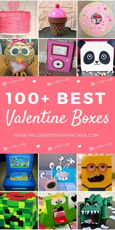 100 Best Valentine Box Ideas 100 Best Valentine Box Ideas 100 Best Valentine Boxes Impress your class with these creative valentine box ideas. There are a hundred different valentine's day boxes for boys and girls to choose from. Valentines Day Food, My Funny Valentine, Valentine Boxes For School, Kinder Valentines, Valentines Bricolage, Unicorn Valentine, Valentines For Boys, Valentine Day Crafts, Ideas For Valentine Boxes