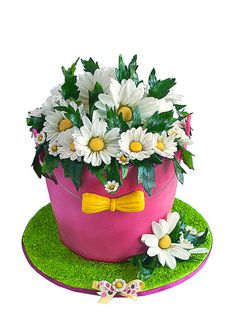Bucket of daisies cakes by Leapula, via Flickr