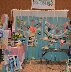 Adorable craft show display set up.