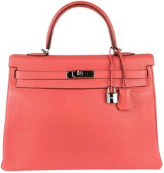 107f34cd628e Hermes Kelly leather handbag Bolsos Hermes