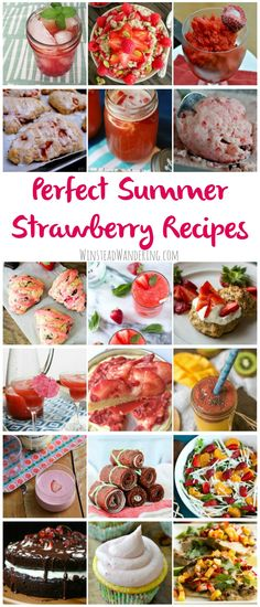 Super excited that @abbywinstead included TWO of my #strawberry #recipes in her 33 Perfect Summer Strawberry Recipes Round-Up!