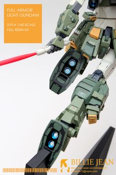 [Zlpla] 1/60 Full Armor Light Gundam Resin Kit - Painted Build Modeled by billiejean73