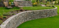 Curved Retaining Wall Retaining and Landscape Wall Big Sky Landscaping Inc. - Curved Retaining Wall Retaining and Landscape Wall Big Sky Landscaping Inc. Portland, OR - Inexpensive Retaining Wall Ideas, Backyard Retaining Walls, Retaining Wall Design, Garden Retaining Wall, Concrete Retaining Walls, Low Retaining Wall Ideas, Sloped Yard, Sloped Backyard, Backyard Ideas