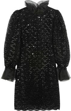 Dolce & Gabbana Sequined macramé lace mini dress on shopstyle.com