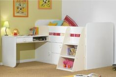 20 Loft Beds With Desks To Save Kid's Room Space   Kidsomania
