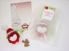 Adventskalenderfüllungen - Mini Weihnachtswichtel Weihnachtsmann - ein Designerstück von iLike_wuuschl bei DaWanda