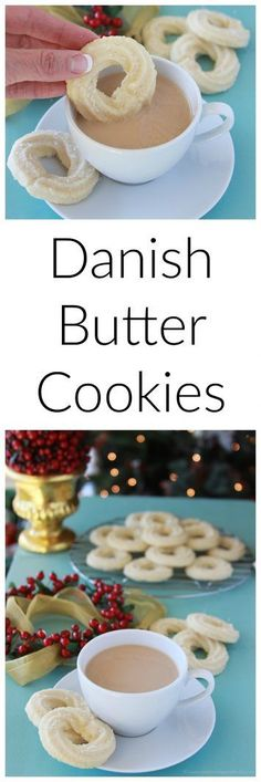 Danish Butter Cookies on www.cookingwithruthie.com a traditional holiday cookie in our Culinary Journey Around the World!