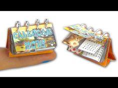 Miniature doll calendar tutorial - Miniatures & Dollhouse DIY ❤ - YouTube