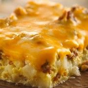 BREAKFAST TO WAKE UP TO: Overnight Tex-Mex Egg Bake.Spice up your breakfast menus by serving an egg casserole featuring spicy sausage, green chilies and salsa. What's For Breakfast, Breakfast Dishes, Breakfast Casserole, Breakfast Recipes, Egg Casserole, Mexican Breakfast, Morning Breakfast, Casserole Recipes, Breakfast Potluck
