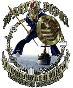 Navy MCM Crew Spartan Shirt $19.95