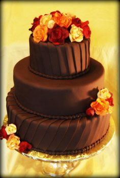 Simple+Fall+Wedding+Cake+-+Cake+by+BeckysSweets