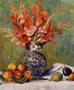 Flowers and Fruit - Pierre-Auguste Renoir