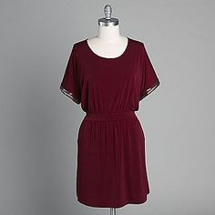 Batwing Dress in Wine from LYS via @KMARTFashion
