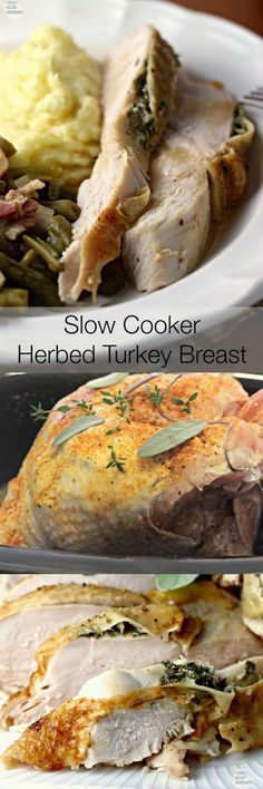 Slow Cooker Herbed Turkey Breast produces a perfectly cooked, moist, delicious turkey breast EVERY. Slow Cooker Turkey, Crock Pot Slow Cooker, Crock Pot Cooking, Slow Cooker Recipes, Crockpot Recipes, Turkey Recipes, Meat Recipes, Chicken Recipes, Cooking Recipes