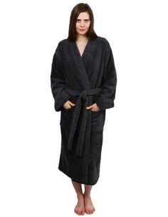 66c0054a3a TowelSelections Women s Terry Kimono Robe Cotton Spa Bathrobe X-Small Small  Coffee