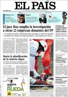 Los Titulares y Portadas de Noticias Destacadas Españolas del 1 de Junio de 2013 del Diario El País ¿Que le parecio esta Portada de este Diario Español?