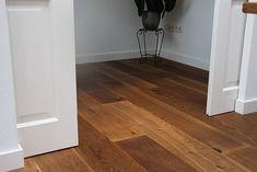 houten vloer dubbel gerookt en geborsteld - naturel geolied