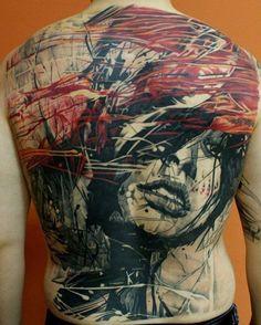 Interesting....Cool Full Back Tattoo Design, Art