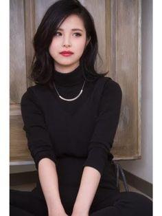 Ideas Hair Black Shoulder Length Asian For 2019 Medium Long Hair, Long Black Hair, Medium Hair Cuts, Dark Hair, Medium Hair Styles, Natural Hair Styles, Short Hair Styles, Japonese Girl, Hair Arrange