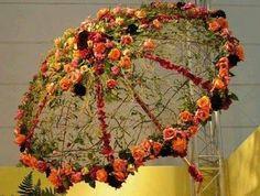 paraguas de flor