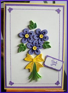 Quilled card by Kiddo
