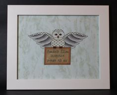 Harry Potter themed Hedwig's Delivery Cross by FangirlStitches, $6.00