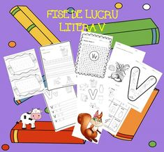 Fise litere | CLASA PREGATITOARE Monopoly, Homeschool, Blog, Pdf, Full Bed Loft, Blogging, Homeschooling