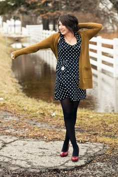 sunday crossbow | Sunday Crossbow - polka dots, mustard, & red. | Engagement Session Cl ...