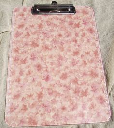 Clipboard Pink Lucite Plastic Fabric Dusty Rose by Pinoodles, $16.00