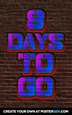 8 days    to    go