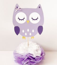 Owl Centerpieces - READY TO SHIP Baby Shower, Party by JumpingJones on Etsy                                                                                                                                                                                 Más