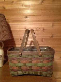 Rare Retired New 1991 Longaberger Hostess Hamper Basket