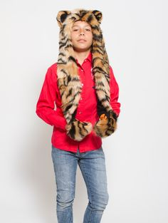 What's Your Spirit Animal? ..... TIGER (Faux Fur) ..................... Traits: Fierce > Powerful > Protective .Find out more about the #Tiger #Spirit #Animal at: https://www.spirithoods.com/kids/boys/tiger/1022/ $69 #Gifts #Fashion #SpiritHood #SpiritHoods #Hoodie #FauxFur #Paws #Scarf #Kids #Boys #ProBlue